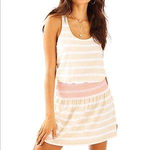 Lilly Pulitzer tideline tank dress cream stripe